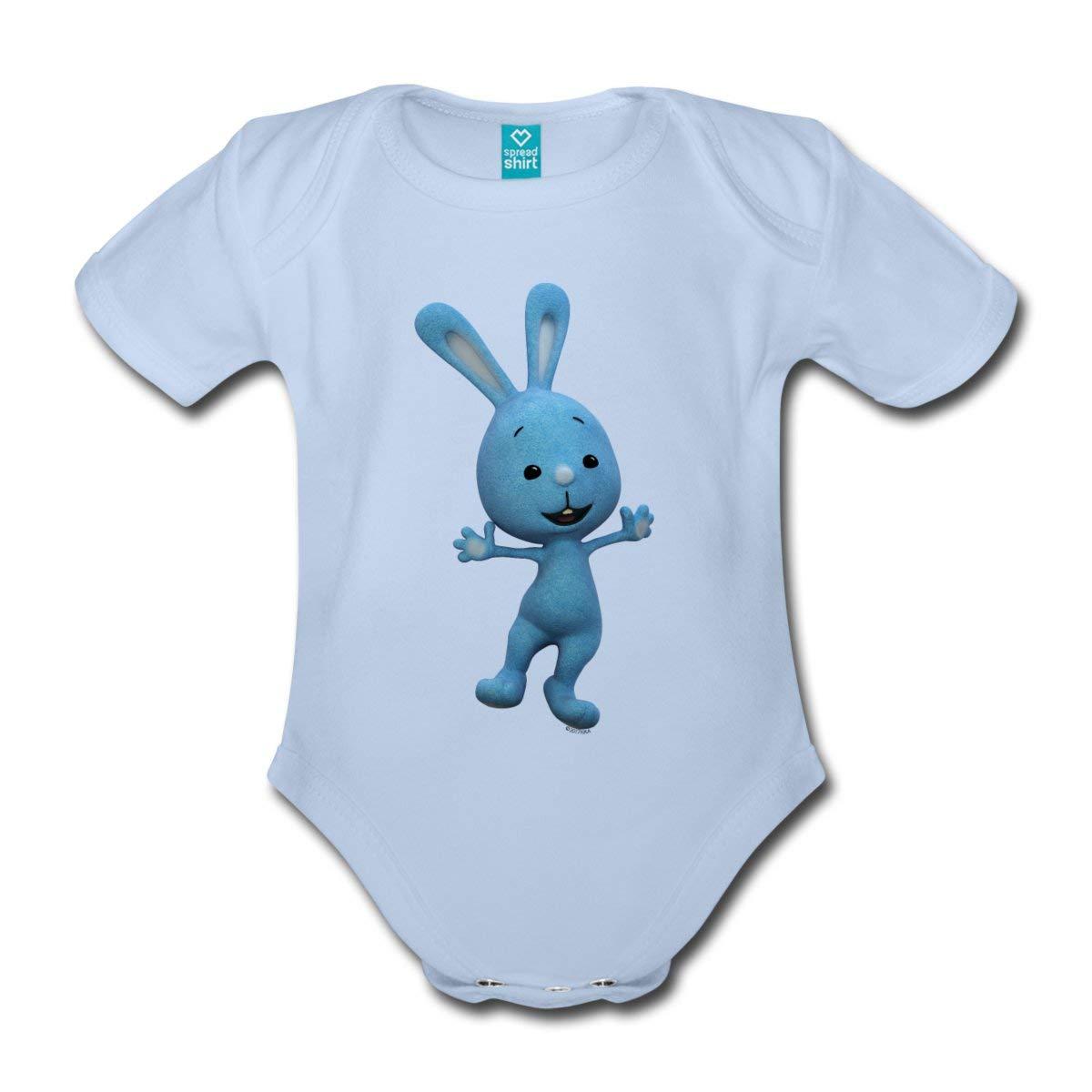 Spreadshirt KiKANiNCHEN Kaninchen Tanzt Fr/öhlich Baby Bio-Kurzarm-Body
