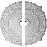 Ekena Millwork CM39AT2-05000 39 1/2''OD x 5''ID x 2 1/2''P Attica Ceiling Medallion, Fits Canopies up to 5'', 2 Piece