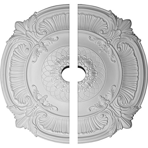 Ekena Millwork CM39AT2-05000 39 1/2''OD x 5''ID x 2 1/2''P Attica Ceiling Medallion, Fits Canopies up to 5'', 2 Piece by Ekena Millwork