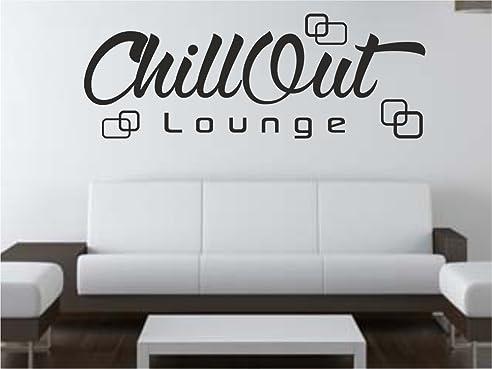 Wandtattoo Chill Out Retro Lounge Wohnzimmer Schlafzimmer Sprüche ...