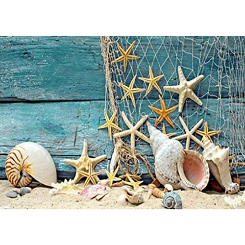Cinhent Diamond Painting, Embroidery Rhinestone Pasted DIY Cross Stitch Arts, Decoration Gifts - 30 x 40 cm, Sea Shell, Starfish, Currently Most Popular Home Craft Supply ()