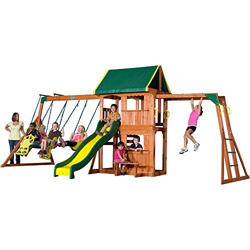 Backyard Discovery Prairie Ridge All Cedar Wood Playset Swing Set (Wooden Swing Sets For Sale)