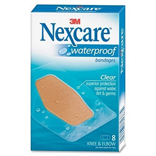 (Nexcare Waterproof Knee & Elbow Bandages 8 Each (Pack of 10))
