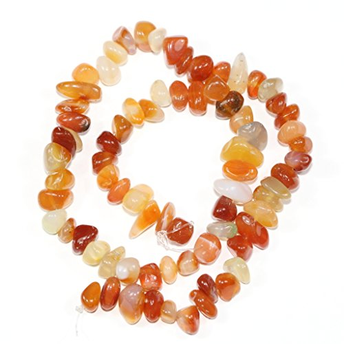 Tourmaline Center (AAA Natural Red Agate Gemstones Smooth Pebble Beads Center Drilled Free-form Loose Beads ~10x8mm beads ( ~16