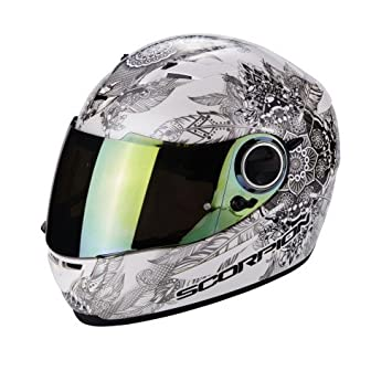 Scorpion Casco Moto exo-490 Dream, White/Chameleon, XS