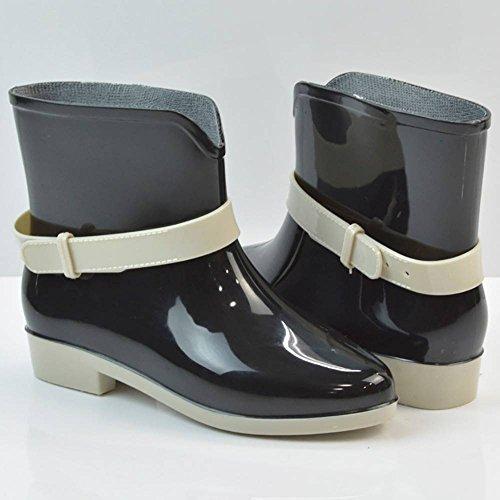 de Femme Noir EU Popoye Travail 36 Wellington Noir Chaussures 5 YRqIE