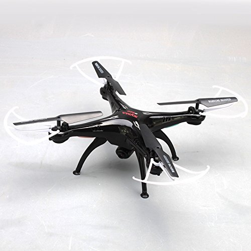 pgraded Version) 2.4G 4CH Channels 6 Gyro Gyroscope 2GB Memory Card 2MP Camera Hover / Roll / 3D Flight Headless Mode RC Quadcopter build in 0820 Motor Wind Resistance More Batter than X5C RTF for Children Ages 14+ Black ()