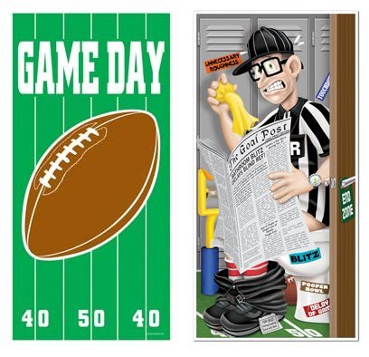 """SET of 2 FOOTBALL Door BANNERS 30"""" x 60""""/PARTY DECOR/GAME..."""