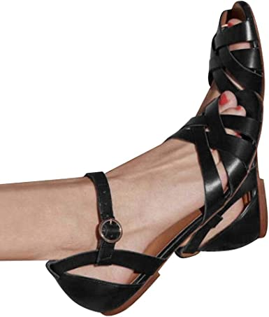 Women Fashion Woven Sandals Closed Toe