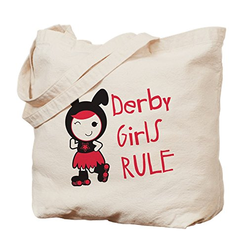 (CafePress Roller Derby - Derby Girls Rule Natural Canvas Tote Bag, Cloth Shopping Bag)