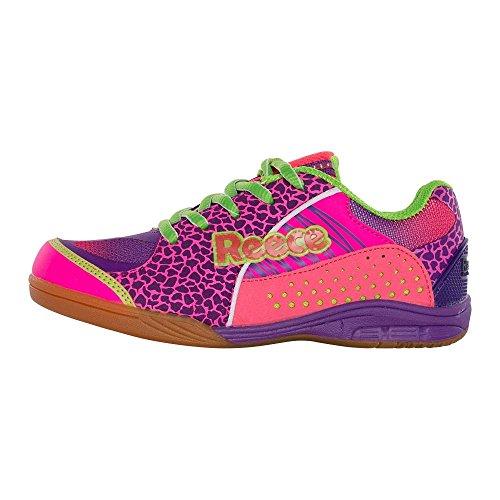 Reece Wave–Zapatos de hockey indoor–Rosa rosa