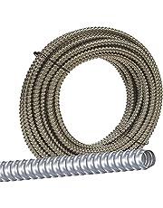 Jensen Distributing 55082122 AL Flex Fo5000050M Type Rwa Reduced Wall Flexible Conduit, 1/2 in X 50 Ft, Aluminum