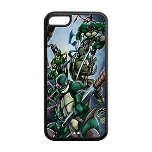 LINMM58281Custom Cartoon TMNT Teenage Mutant Ninja Turtles Case for iphone 5/5s Rubber Cover Case-iphone 5/5sTMNT032MEIMEI