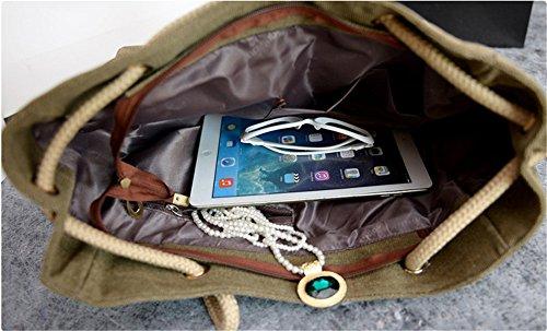 Shoulder Bags Cáñamo De Bandolera Sling Ambiental X 16 h l Handbag 12 Bolso Wewod Cuerda Protección Bag 31 Cm Caqui Shopper w wxqX408P
