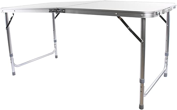 1,2 m Table de camping pliable, portable, table de fête de table ...