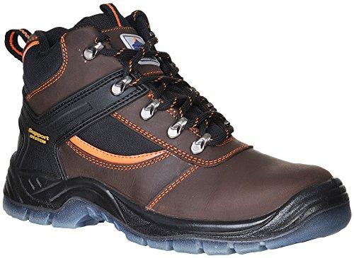 S3 Brown Mustang Toe Portwest Boot Work Steel Cap Steelite 8A556xqE