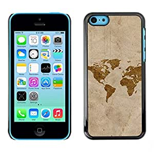 Be Good Phone Accessory // Dura Cáscara cubierta Protectora Caso Carcasa Funda de Protección para Apple Iphone 5C // Map Art Watercolor Eart Continents America