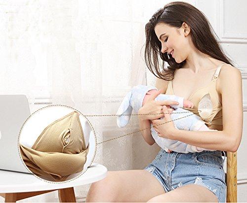 Cystyle - Sujetador premamá y de lactancia - para mujer Nude / 2PCS