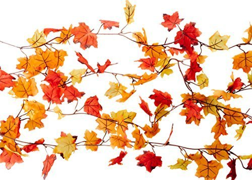 24-Feet-of-Garland-Fall-Decoration-Value-Pack-Pack-of-4-CraftMore-6-Foot-Garlands-Orange-Red-and-Yellow-Leaves