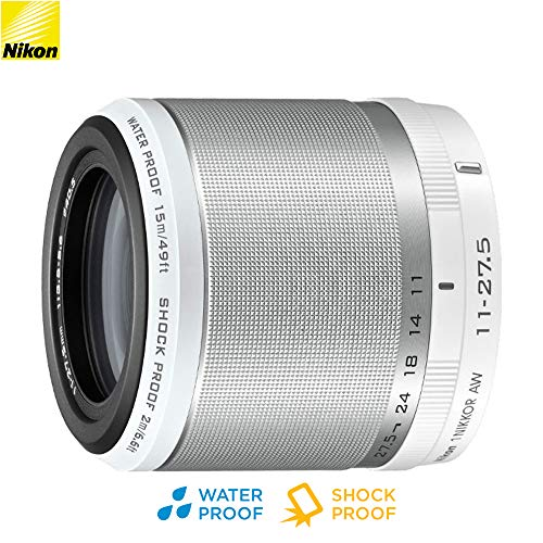 Nikon 1 NIKKOR AW 11-27.5mm f/3.5-5.6 Lens White (3365b) – (Renewed)