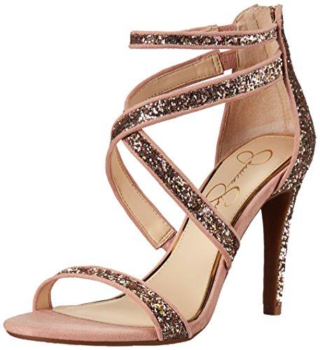Jessica Simpson Women's ELLENIE Heeled Sandal, Champagne Multi, 8.5 Medium US