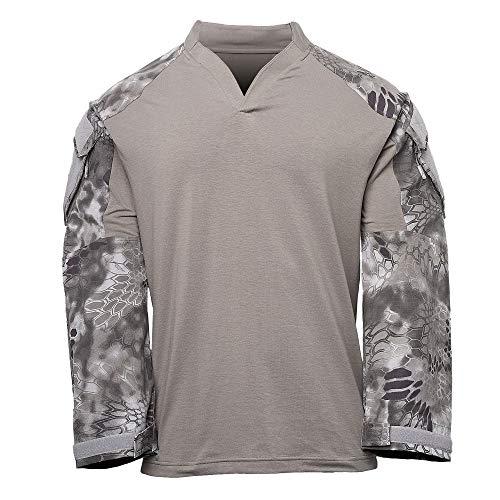 Kryptek Tactical LS Rugby Long Sleeve Shirt (Tactical Collection), Dark Charcoal/Raid, - Tactical Ls Shirt