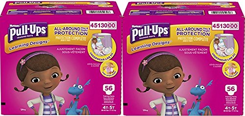 Pull-Ups Learning Designs Training Pants for Girls PRznVW,2Pack (Learning Designs) 4T-5T, 112 Count