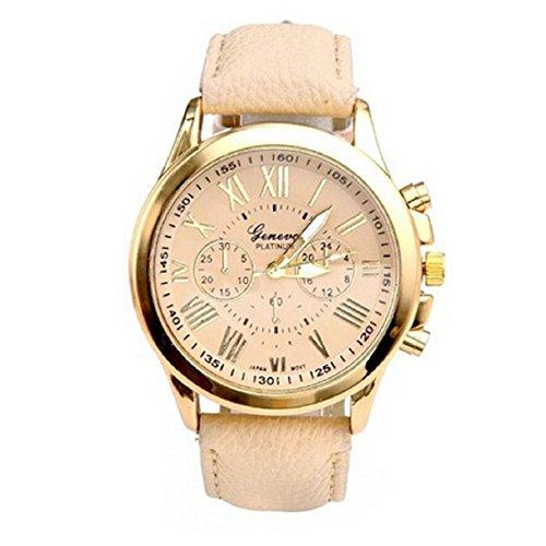 UPC 024144370287, Bestnow 2015,New Women's Fashion Geneva Roman Numerals Faux Leather Analog Quartz Wrist Watch (Pink 1)