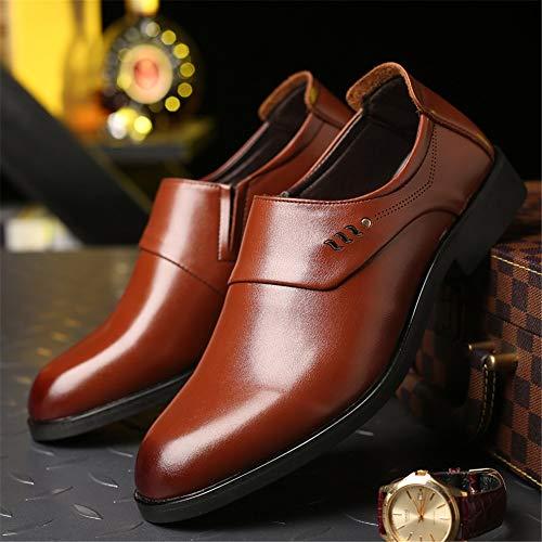 Los Oxford Marrón Zapatos Moda Formales Vestir Resbalón Británico En Clásico Hombres Estilo De Cómoda Negocios Mxl Zx7PwtqFW