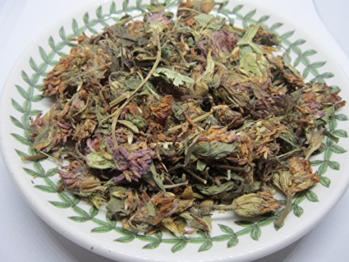 Blossoms Dried Red Clover - Red Clover Tops - Trifolium pratense Whole Leaf/Flower by Nature Tea (4 oz)