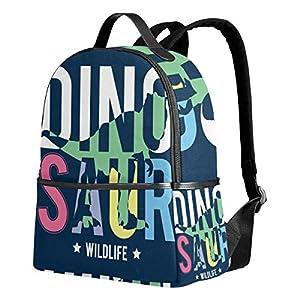 Dinosauro blu navy zaino per donne adolescenti ragazze borsa alla moda borsa libreria bambini viaggio università casual… 7 spesavip