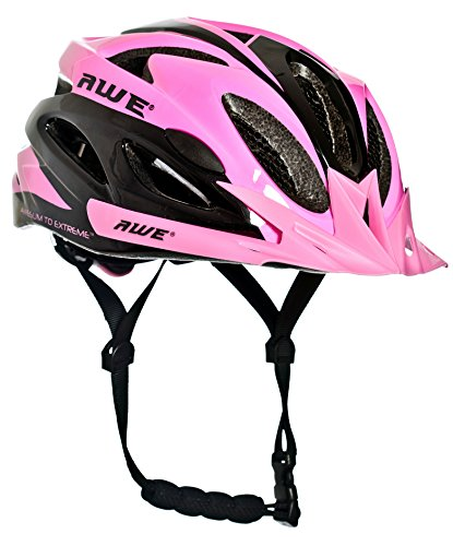 AWE AWEAir FREE 5 YEAR CRASH REPLACEMENT In Mould Adult Womens Cycling Helmet 58-61cm Pink US CPSC Standards 16 CFR 1203 Safety Tested