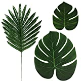 kitchen island design ideas  LOMIRO 36 Pcs 3 Kinds Artificial Palm Leaves Tropical Plant Faux Leaves Safari Leaves Hawaiian Luau Party Suppliers Decorations,Tiki Aloha Jungle Beach Birthday Table Leave Decorations
