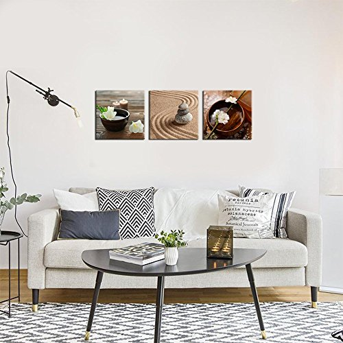 Sea charm zen canvas art art decor modern flower in bowl for Deco mural zen