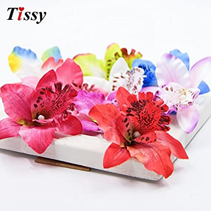 Amazon hatabo flower corsage silk flower orchid 20pcs 8cm hatabo flower corsage silk flower orchid 20pcs 8cm artificial orchid silk flowers head flower for party mightylinksfo