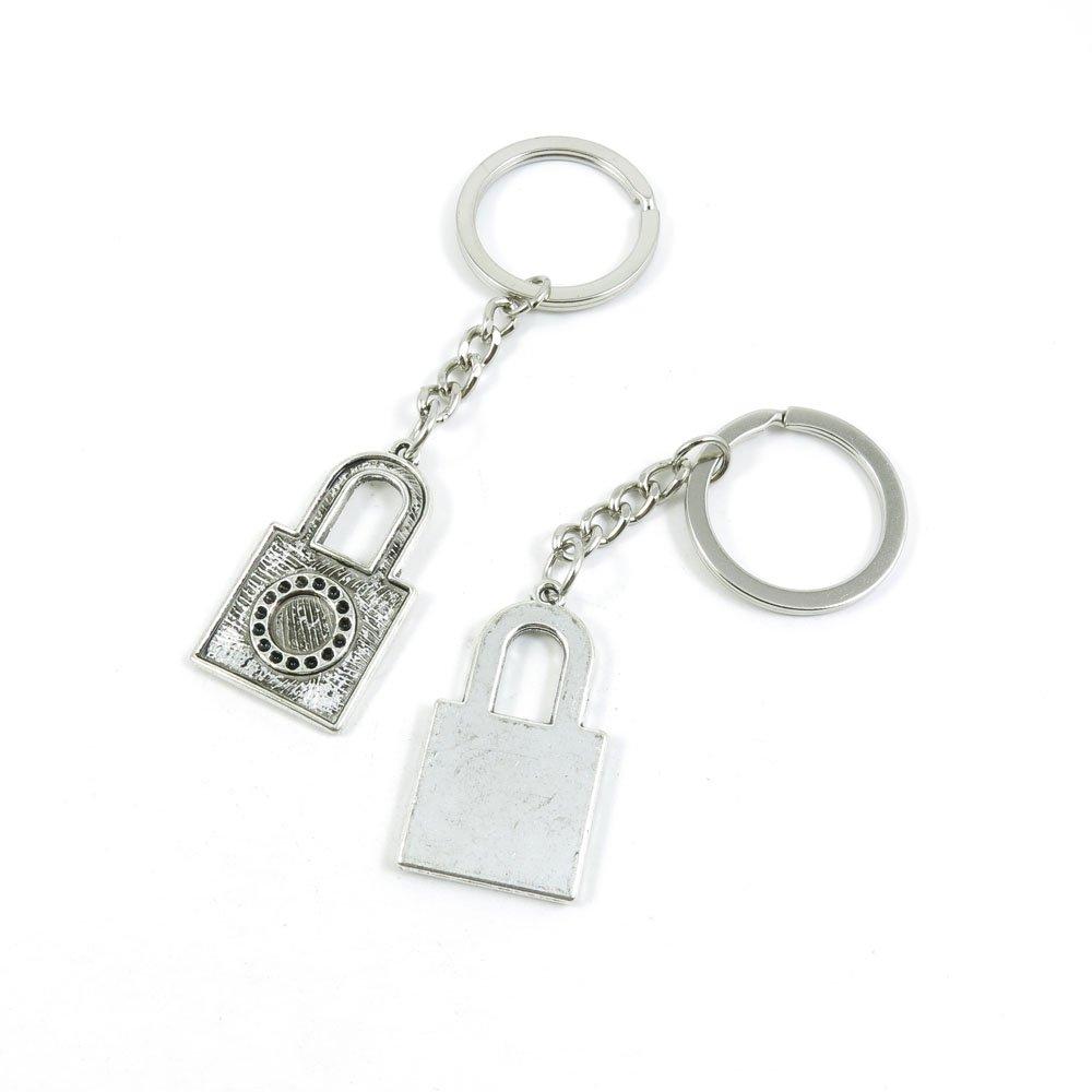 40 Pieces Keychain Door Car Key Chain Tags Keyring Ring Chain Keychain Supplies Antique Silver Tone Wholesale Bulk Lots N7NN8 Lock of Love
