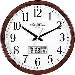 Seth Thomas New 2016 Stamford Analog/Digital Wall Clock