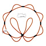 Latitude 22 Multi-Function Tie Down Rope 5 Feet Bungee Cord Ratchet Strap with Hook for Cars, SUV, Truck, Motorcycle, Boat, Kayak, Bicycle,etc