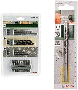Bosch 2 609 256 989 - Juego variado Uneo (pack de 19) + 2 609 256 907 - B para hormigón SDS-Quick: Amazon.es: Bricolaje y herramientas
