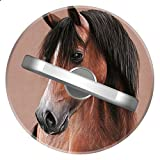 pedestal horse - Handsome Brown Horse Ring Stand, ZYCCW Customized 360 Rotating Stylish Stand and Grip Ideal For iPhone X/iPhone 8/iPhone 8 Plus.etc