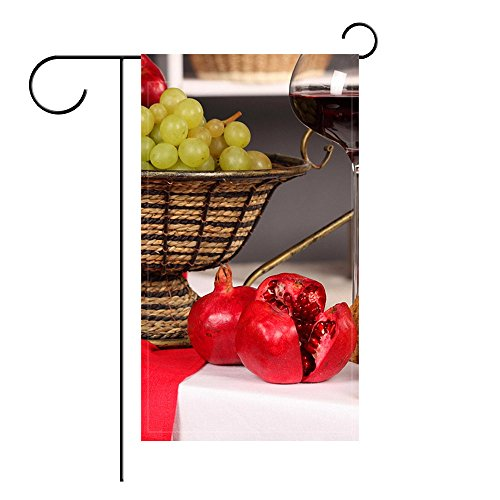 YourPink Garden Flag Table Tablecloth Napkin Vase Fruit G...