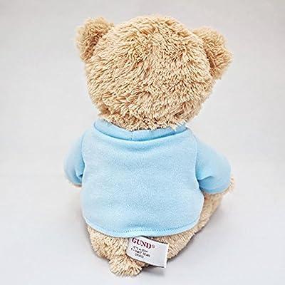 """GUND It's a Boy T-Shirt Teddy Bear Stuffed Animal Plush, Blue, 12"""": Toys & Games"""