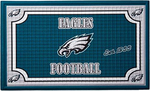 Team Sports America 41EM3823B Philadelphia Eagles Embossed Door Mat