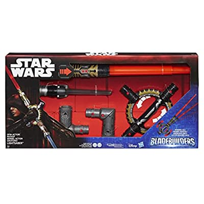 Star Wars Blade Builders Spin Action Lightsaber (One Size): Toys & Games