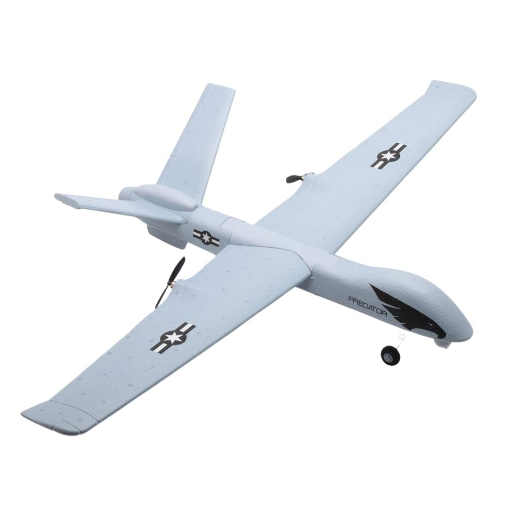 Toyvian DIY EPP Foam Remote Control Aircraft Model Throwing Flying Glider Plane for Kids