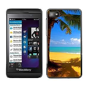 "For Blackberry Z10 , S-type Playa Amarillo"" - Arte & diseño plástico duro Fundas Cover Cubre Hard Case Cover"