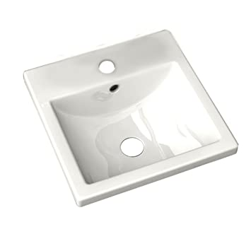 American Standard 0642.001.020 Studio Care Countertop Bathroom Sink, White