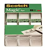 Office Products : Scotch Magic Tape, 3/4 x 300 Inch, 3 Count (3105)