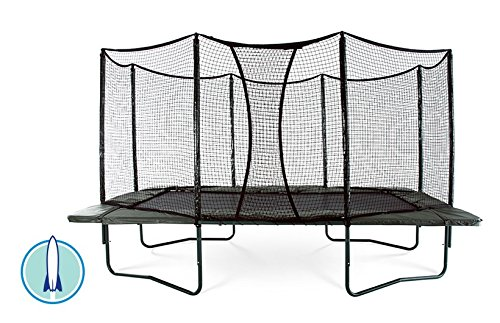 AlleyOOP PowerBounce 10'x17' Trampoline with Enclosure | 2 Layers of High Performance Black Springs | 50+ Patent & Safety Innovations | Lifetime Frame Warranty by JumpSport