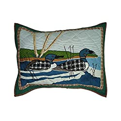 Patch Magic 27-inch By 21-inch Loon Pillow Sham